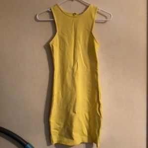 Forever21 Yellow Bodycon dress